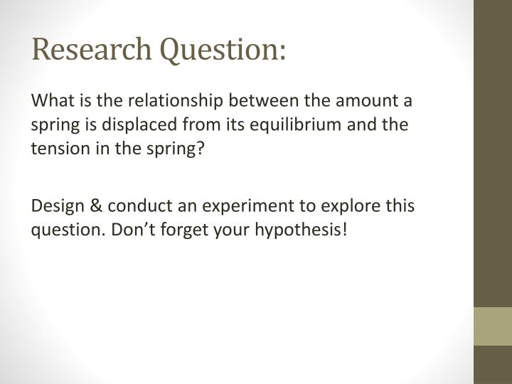 Research Question: