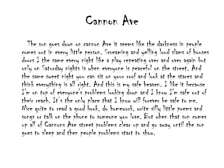 Cannon Ave