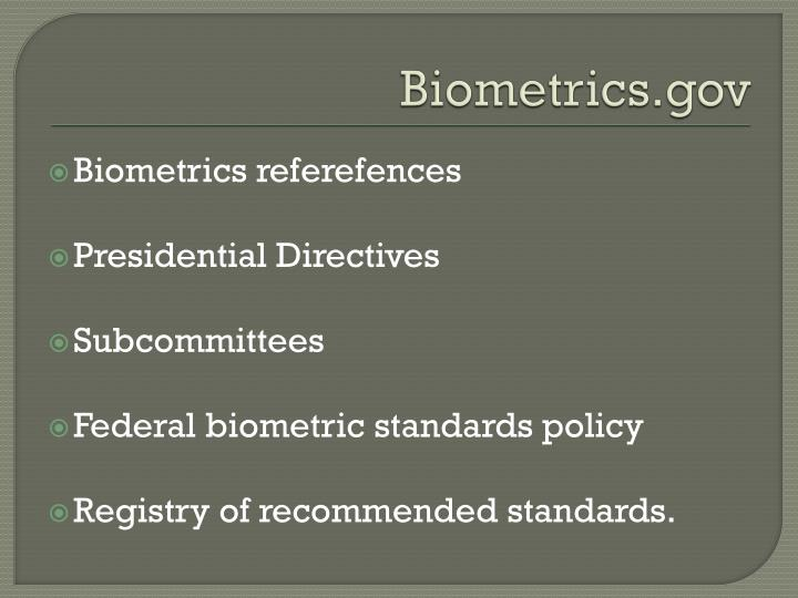 Biometrics.gov