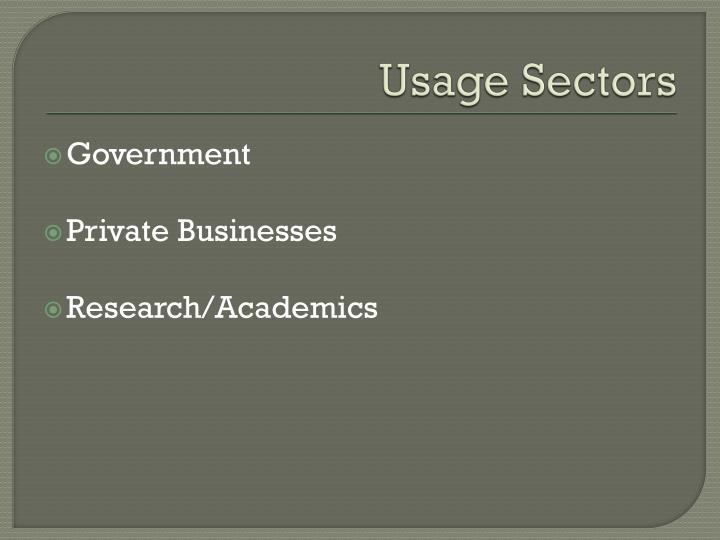 Usage Sectors