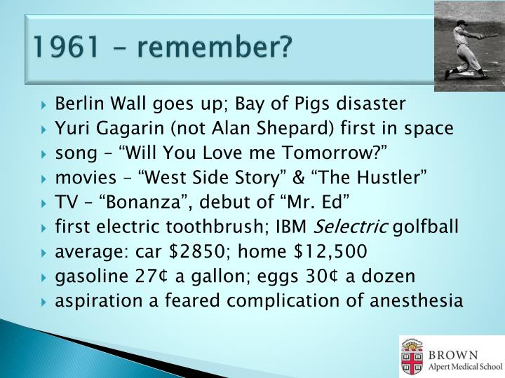 1961 – remember?