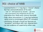 rsi choice of nmb
