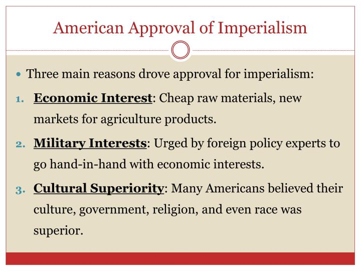 American Approval of Imperialism