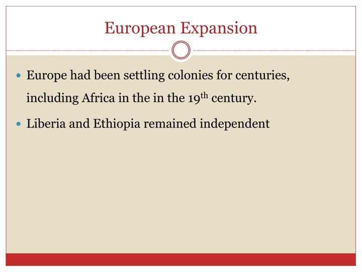 European Expansion