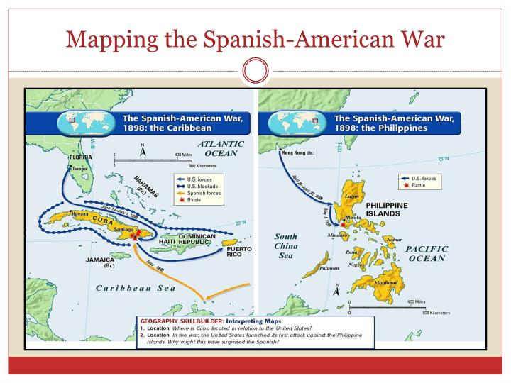 Mapping the Spanish-American War