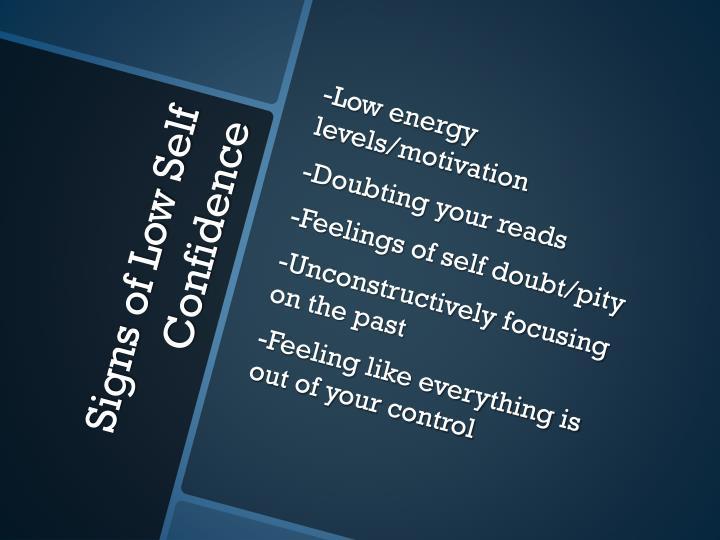 -Low energy levels/motivation
