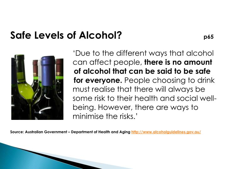 Safe Levels of Alcohol?