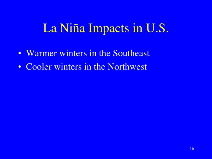 La Niña Impacts in U.S.