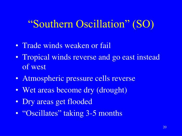 """Southern Oscillation"" (SO)"