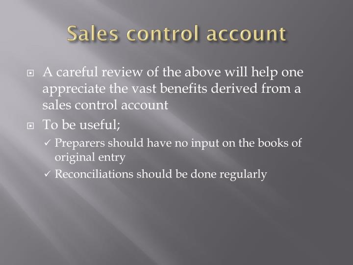 Sales control account