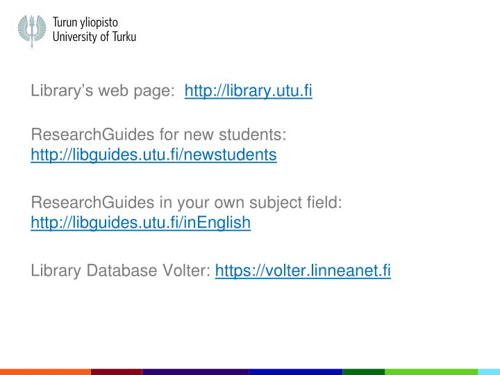 Library's web page: