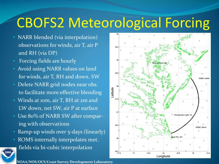 CBOFS2 Meteorological Forcing
