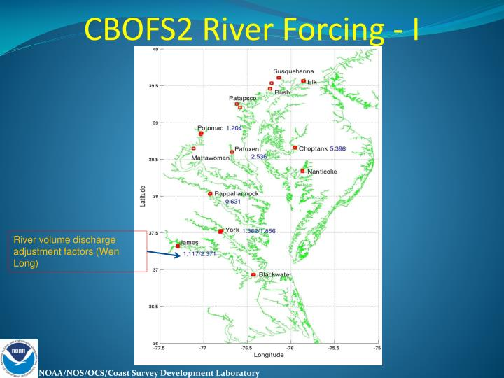CBOFS2 River Forcing - I