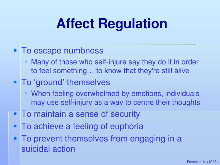 Affect Regulation
