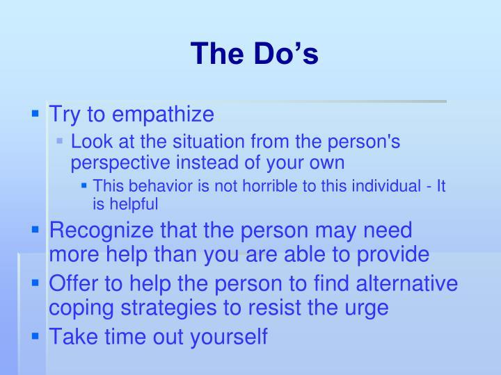 The Do's