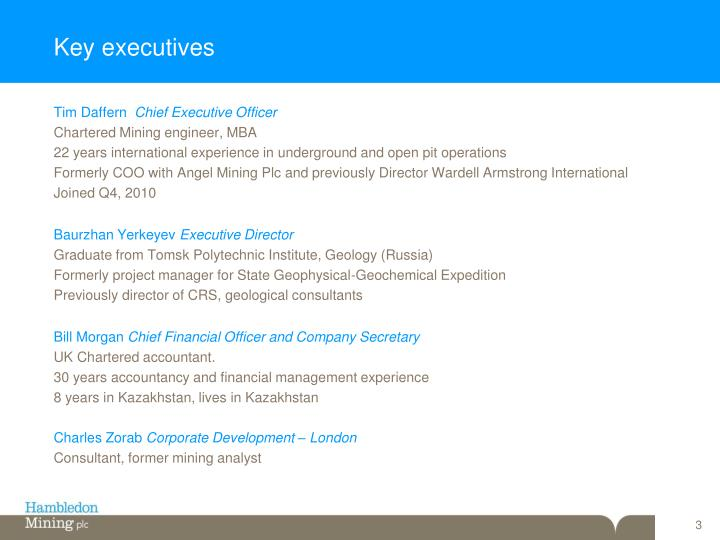 Key executives