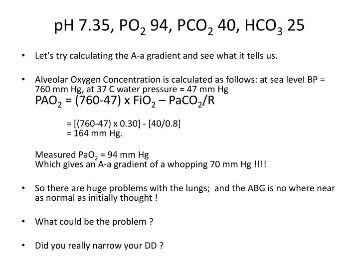 pH 7.35, PO