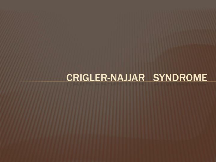 Crigler-najjar