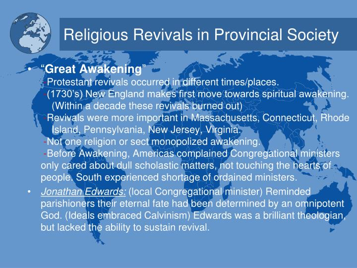 Religious revivals in provincial society