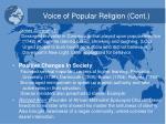 voice of popular religion cont