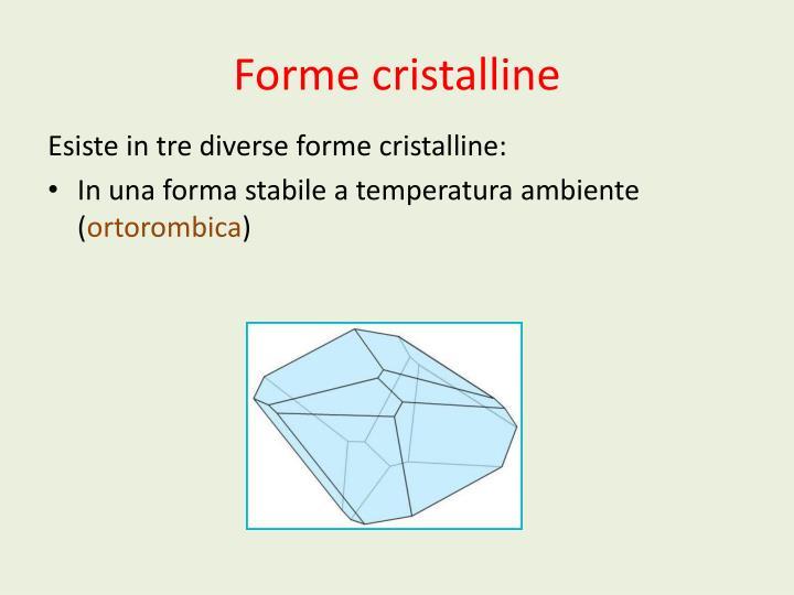 Forme cristalline