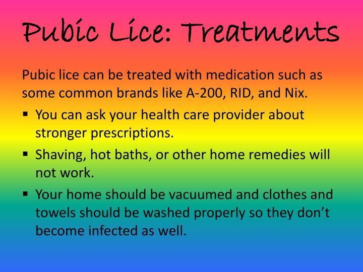 Pubic Lice: Treatments