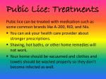 pubic lice treatments