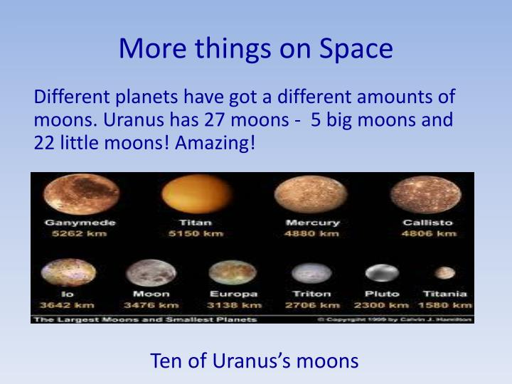 More things on Space