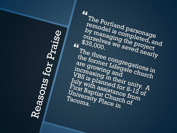 The Portland parsonage remodel is completed, and by managing the project ourselves we saved nearly $35,000.
