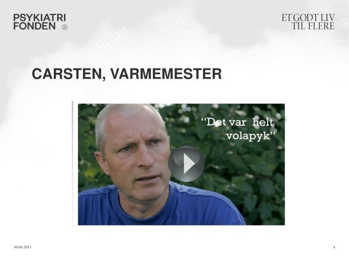 Carsten, varmemester