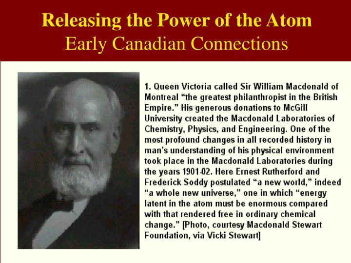 Releasing the Power of the Atom