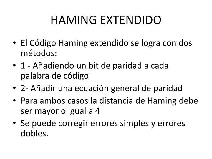 HAMING EXTENDIDO