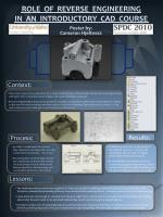 role of reverse engineering in an introductory cad course