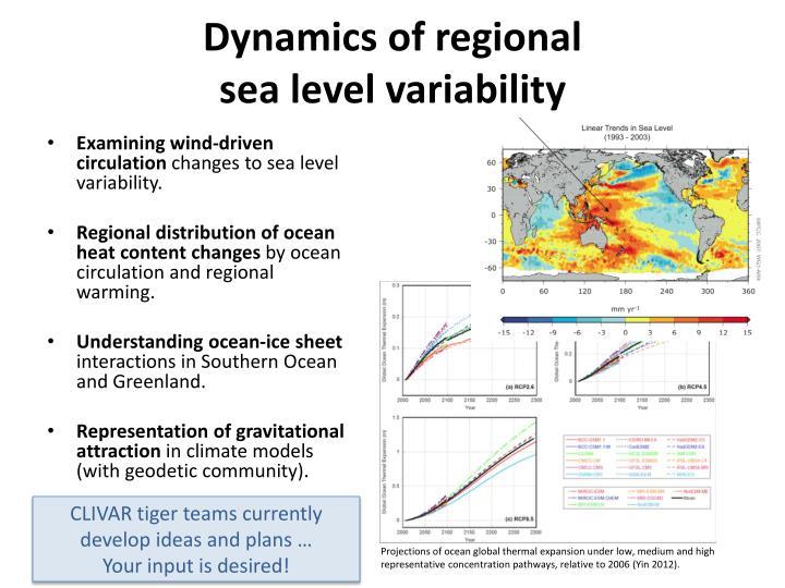 Dynamics of regional