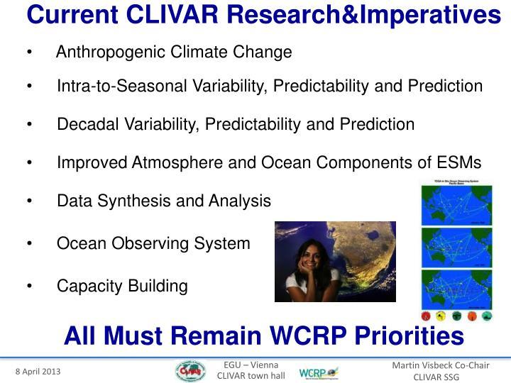 Current CLIVAR