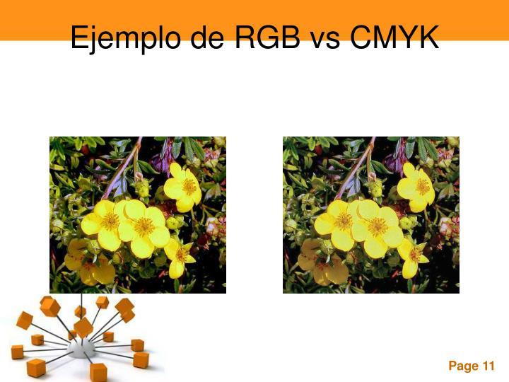 Ejemplo de RGB vs CMYK