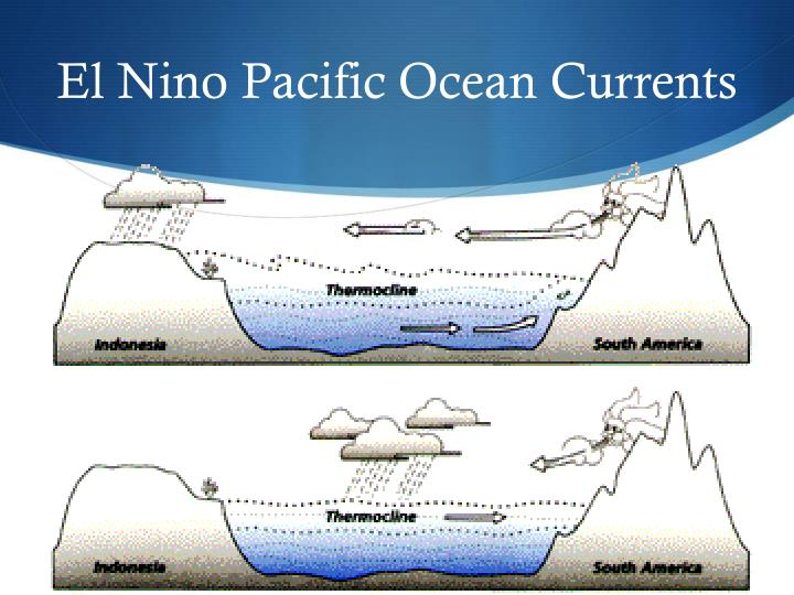 El Nino Pacific Ocean Currents