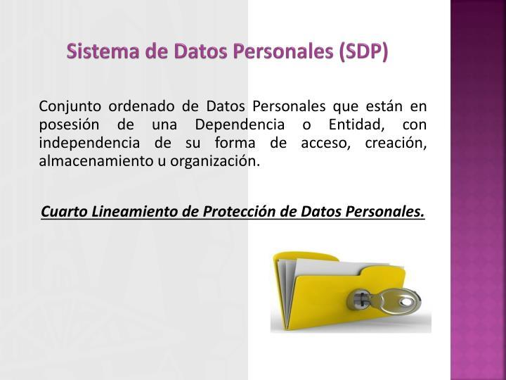 Sistema de Datos Personales (SDP)
