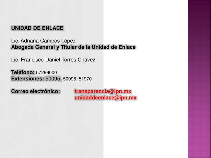 UNIDAD DE ENLACE