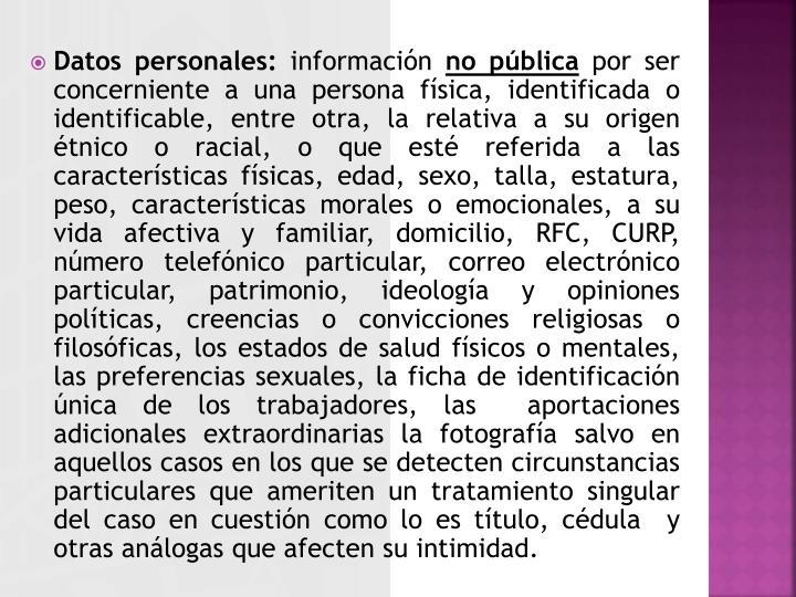 Datos personales: