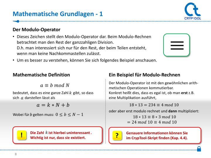 Mathematische Grundlagen - 1