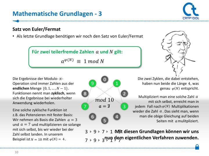 Mathematische Grundlagen - 3