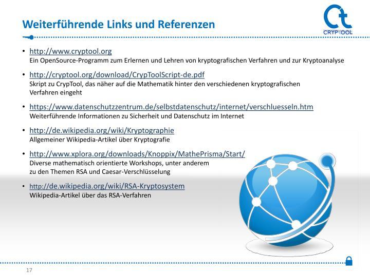 Weiterführende Links und Referenzen