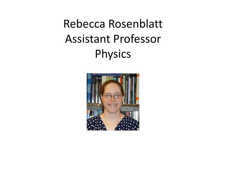 Rebecca Rosenblatt