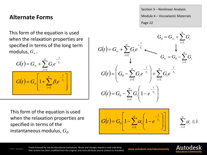 Section 3 – Nonlinear Analysis