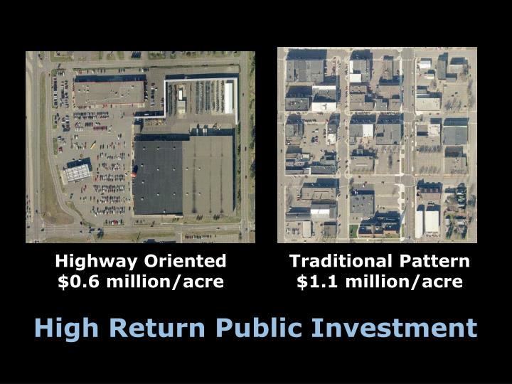 Highway Oriented $0.6 million/acre