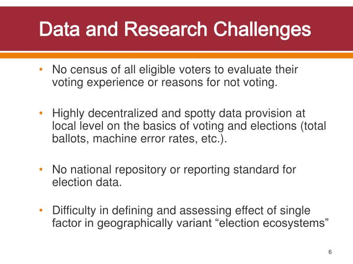Data and Research Challenges