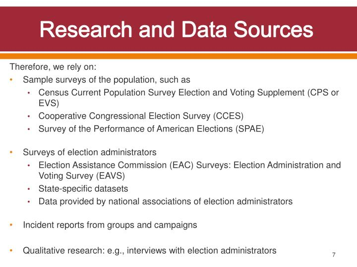 Research and Data Sources