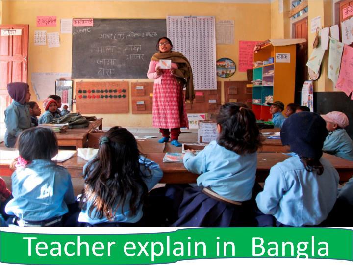 Teacher explain in