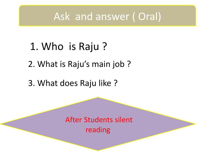 Ask  and answer ( Oral)